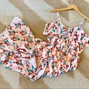 NWOT Boho Floral Maxi Dress